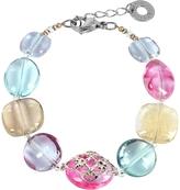 Antica Murrina Veneziana Florinda Top T Transparent Murano Glass Beads Bracelet