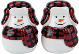 Boston Warehouse Buffalo Plaid Snowman Salt & Pepper Shakers