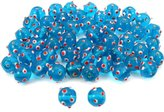 Generic Blue Round Dot Glass Beads Lampwork Beading Approx 50
