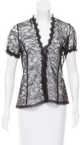 Miguelina Sheer Lace Blouse