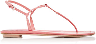Prada T-Strap Leather Sandals