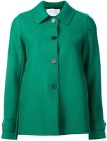 Harris Wharf London Pressed Wool Short Coat - Green
