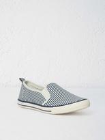 White Stuff Stripe skate plimsol