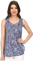 Jag Jeans Ophelia Printed Voile Sleeveless Top