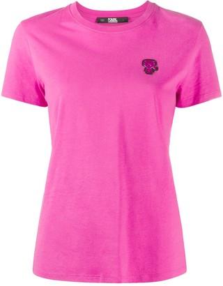 Karl Lagerfeld Paris mini Ikonik patch T-shirt
