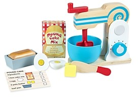 Melissa & Doug Wooden Make-a-Cake Toy Mixer Set - Ages 3+