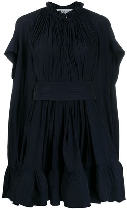 Lanvin Flared Ruffle Dress