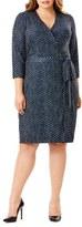 Mynt 1792 Plus Size Women's Wrap Jersey Dress