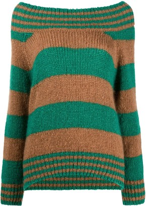 ALEXACHUNG Worlds End striped jumper