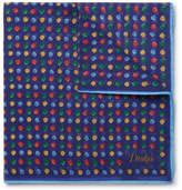 Drakes Drake's - Polka-Dot Cotton and Silk-Blend Pocket Square