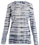 Proenza Schouler Tie-dye long-sleeved cotton T-shirt