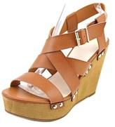 Fergalicious Libby Women Open Toe Synthetic Tan Wedge Sandal.