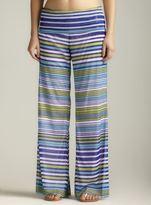 For Cynthia Multi Stripe Foldover Beach Pant