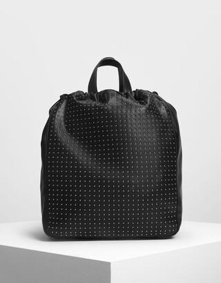 Charles & Keith Micro Stud Drawstring Backpack