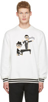 Dolce & Gabbana White Piano Singer Duo Pullover