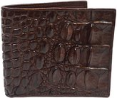 Authentic M Crocodile Skin Men's Bifold Backbone Leather Wallet