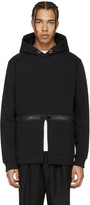 Givenchy Black Waist Zip Hoodie