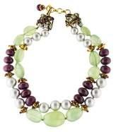 Iradj Moini Multistone & Faux Pearl Double Strand Necklace