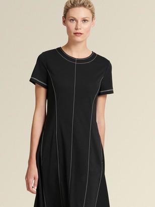 DKNY The Icon - Contrast Stitch Trapeze Dress
