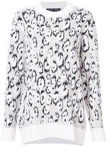 Proenza Schouler knitted leopard sweater - women - Polyester/Viscose/Virgin Wool - S
