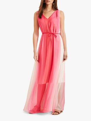 Phase Eight Dip Dye Maxi Dress, Pink