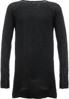 Masnada thumb sleeves slim-fit jumper