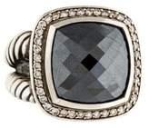 David Yurman Diamond & Hematine Albion Ring