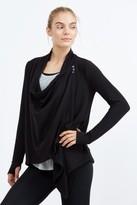 Beyond Yoga Cozy Fleece Asymmetrical Drape Cardigan