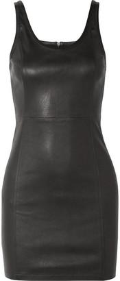 Alexander Wang Stretch-leather Mini Dress - Black
