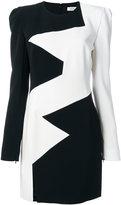 Thierry Mugler panelled mini dress