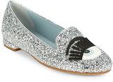 Chiara Ferragni CF1220 Winking Eye Glitter Flats