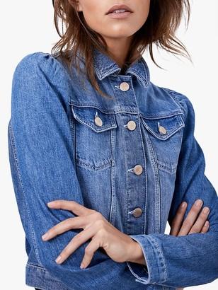 Mint Velvet Puff Sleeve Denim Jacket