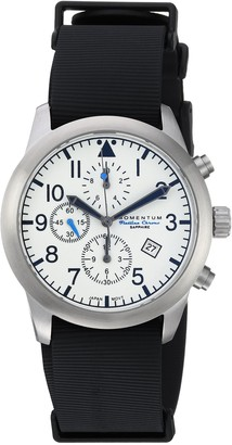 Momentum Men's Sports Watch | Flatline Chrono Adventure Watch by | Stainless Steel Watches for Men | Sapphire Crystal Analog Watch with Japanese Movement | Water Resistant (100M/330FT) | Classic Watch - Lume / 1M-SN34LS11B