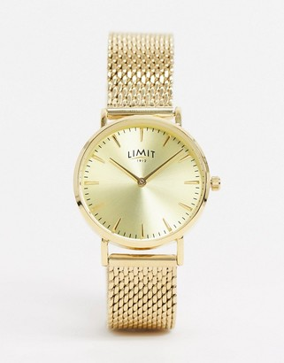 Limit mesh watch in gold