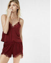 Express one eleven high waisted floral knit lace trim shorts