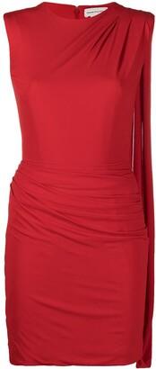 Alexander McQueen Draped-Detail Fitted Mini Dress