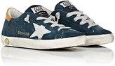 Golden Goose Deluxe Brand Superstar Distressed Suede Sneakers-NAVY
