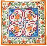Dolce & Gabbana Maiolica Print Cotton Muslin Caftan