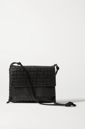 Bottega Veneta Intrecciato Leather Shoulder Bag - Black