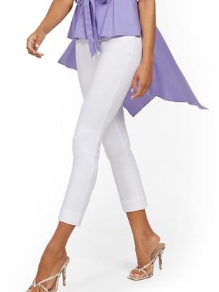 New York & Co. Whitney High-Waisted Pull-On Capri Pant - White