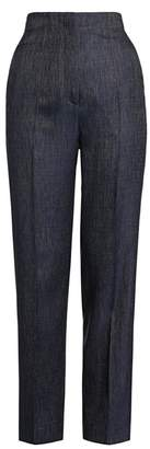 Giorgio Armani Silk & Wool Denim-Effect Slim Pants