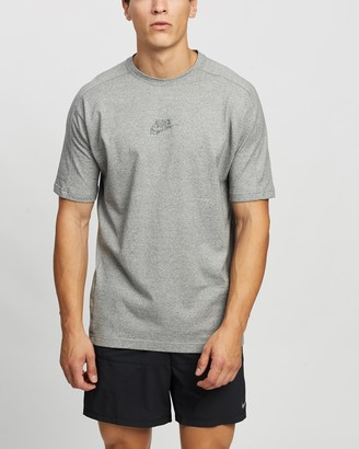 Nike Men's Grey Printed T-Shirts - Sportswear SS Jersey Tee - Size XS at The Iconic