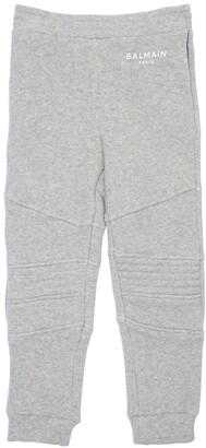 Balmain Logo Cotton Blend Sweatpants