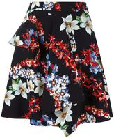 MSGM floral print ruffled skirt
