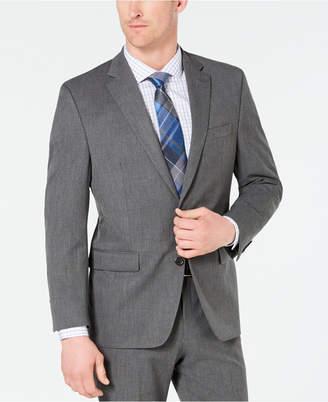 Chaps Men Classic-Fit Stretch Wrinkle-Resistant Gray Sharkskin Suit Jacket