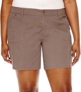 ST. JOHN'S BAY St. John's Bay Twill Cargo Shorts-Plus (7)