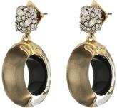 Alexis Bittar Domed Drop Circle Post Earrings Earring