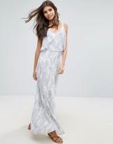 Vila Cross Back Printed Maxi Dress