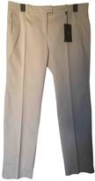 BOSS Beige Cotton Trousers for Women
