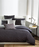 Bar III Box Pleat Carbon Twin Duvet Cover
